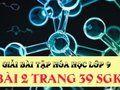Bài 2 trang 39 SGK hóa lớp 9