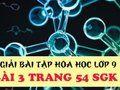 Bài 3 trang 54 sgk hóa 9