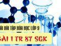 Bài 1 trang 87 SGK Hóa học 9