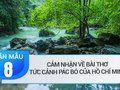 Cảm nhận về bài thơ Tức cảnh Pác Bó của Hồ Chí Minh