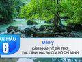 Dàn ý cảm nhận về bài thơ Tức cảnh Pác Bó của Hồ Chí Minh