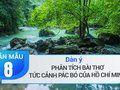Dàn ý phân tích bài thơ Tức cảnh Pác Bó của Hồ Chí Minh