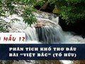 Phân tích khổ thơ đầu bài Việt Bắc (Tố Hữu)