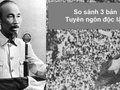 So sánh 3 bản Tuyên ngôn độc lập, Bình ngô đại cáo, Nam quốc sơn hà
