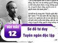 Sơ đồ tư duy Tuyên ngôn độc lập - Hồ Chí Minh