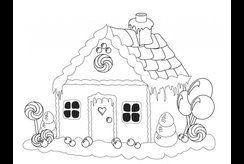 Các mẫu tranh tô màu hình ngôi nhà cho bé tập tô tại nhà