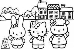 Top 10+ tranh tô màu Kitty cho bé yêu tại nhà vô cùng đơn giản