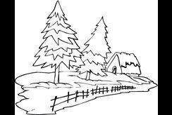 Bộ 9+ tranh tô màu theo chủ đề hình cây thông cho bé 4 tuổi