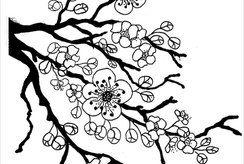 Bé đón xuân với bộ 10+ tranh tô màu đẹp nhất chủ đề cây hoa đào