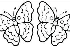 Trang trí căn phòng của bé với các bức tranh tô màu con bướm đáng yêu nhất