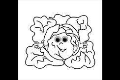 15+ mẫu tranh tô màu sáng tạo hình cây bắp cải cho bé 5 tuổi