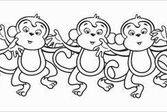 Tuyển chọn tranh tô màu con khỉ  rõ nét nhất cho bé tô tại nhà