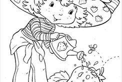 Bộ 12+ hình tô màu sinh động cho bé mầm non chủ đề bé chăm sóc cây