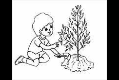 Top 10+ hình tô màu cho trẻ mầm non chủ đề bé trồng cây xanh