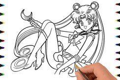 In tranh tô màu thủy thủ mặt trăng đáng yêu cho con thêm hứng thú với mỹ thuật