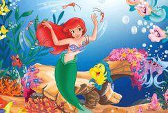 Thử tài họa sĩ nhí với bộ tranh tô màu công chúa Ariel hấp dẫn nhất