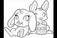 Bé yêu hơn thế giới động vật qua bộ tranh vẽ tô màu con thỏ