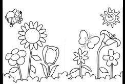 Những mẫu tranh tô màu hoa mùa xuân cho bé để tặng ông bà, bố mẹ