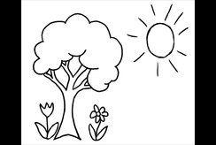 Trang trí phòng bé với bộ tranh tô màu hình cây cối thật ngộ nghĩnh