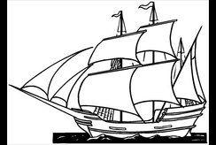 Tranh tô màu con thuyền cho bé mê khám phá đại dương