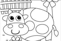 Tranh tô màu con bò cho bé thỏa sức sáng tạo với nhiều màu sắc