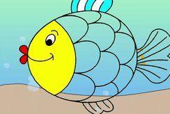 Mẹ giúp bé hứng thú vẽ tranh và tô màu con cá thật dễ thương