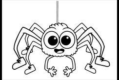 Tranh tô màu con nhện cho bé khám phá thế giới côn trùng
