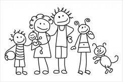 Tuyển tập tranh tô màu cho bé theo chủ đề gia đình