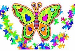 15 tranh tô màu hình con bướm chọn lọc cho bé
