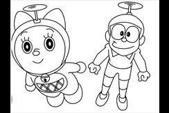 Top tranh tô màu Nobita ngộ nghĩnh cho bé tập tô tại nhà