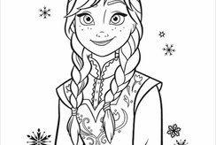 Dành cho các bé yêu công chúa xinh đẹp với bộ tranh tô màu Anna