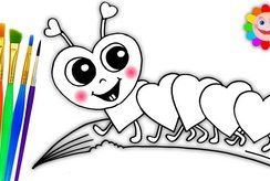 25 tranh tô màu côn trùng giúp bé phát huy trí tưởng tượng và sáng tạo