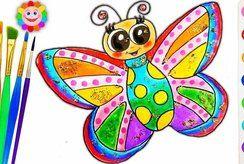Sưu tập 15+ tranh vẽ tô màu con bướm rực rỡ nhất