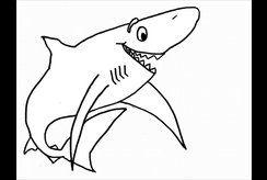 Tranh tô màu con cá mập mẹ tải về cho bé trai thêm mạnh mẽ