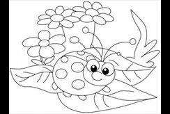 Tuyển chọn tranh tô màu con côn trùng giúp bé khéo tay, nhanh mắt