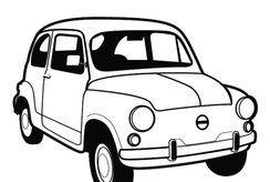 10 hình ô tô đen trắng cho bé tập tô màu kích thích sáng tạo