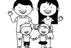 11 tranh tô màu cho bé 5 tuổi chủ đề gia đình hạnh phúc