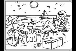 13 tranh tô màu về biển chủ đề mùa hè in ra dành cho bé tâp tô ngay