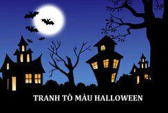 Tranh tô màu halloween độc đáo cho trẻ nhận biết về lễ hội
