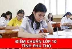Điểm chuẩn vào 10 năm 2020 tỉnh Phú Thọ