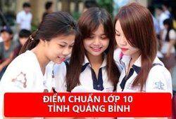Điểm chuẩn vào 10 năm 2020 - 2021 tỉnh Quảng Bình