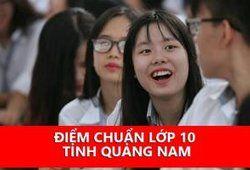 Điểm chuẩn lớp 10 năm học 2019/2020 tỉnh Quảng Nam