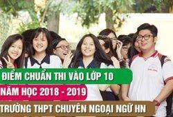 Điểm chuẩn lớp 10 THPT chuyên Ngoại Ngữ Hà Nội 2018 - 2019