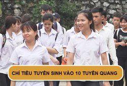 Chỉ tiêu tuyển sinh vào lớp 10 năm 2019 tại Tuyên Quang