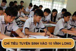 Chỉ tiêu tuyển sinh vào lớp 10 năm 2019 tại Vĩnh Long