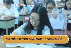 Chỉ tiêu tuyển sinh vào lớp 10 năm 2019 tại Vĩnh Phúc