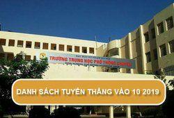 DS tuyển thẳng vào 10 chuyên Sư Phạm Hà Nội năm 2019