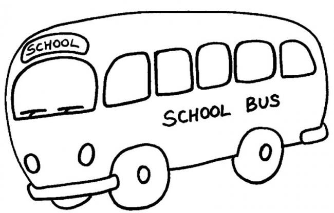 tranh to mau xe bus truong hoc