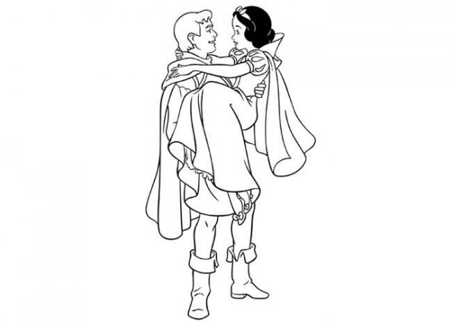 hình ảnh Bạch Tuyết sum vầy bên hoàng tử