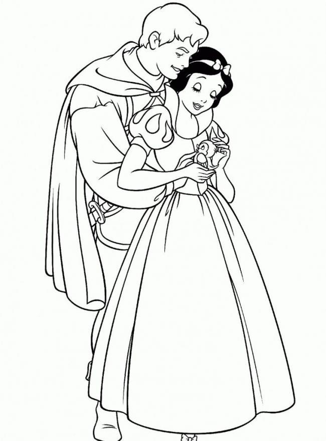 bức hình hạnh phúc của Bạch Tuyết và Hoàng tử